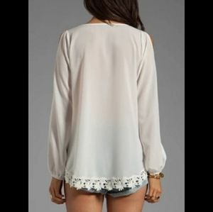 LOVERS + FRIENDS BLOUSE WHITE S NWTGS